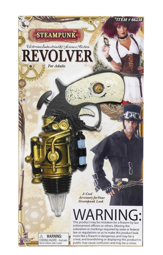 Steampunk Revolver Weapon Adult Costume Accessory