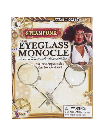 Steampunk Eyeglass Monocle Clip Eyeware Adult Costume Accessory
