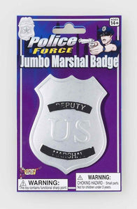 Jumbo Gold Deputy Marshall Police Badge Costume Accessory