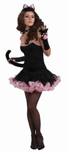 Sophistcat Black & Pink Petticoat Dress Only Costume Adult
