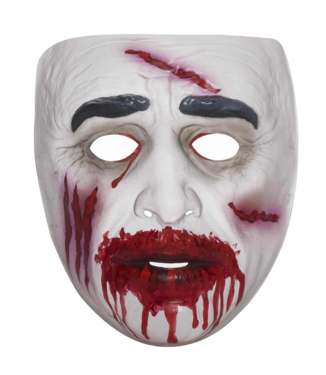 Transparent Bloody Mouth Zombie Costume Mask