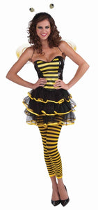 Black & Yellow Striped Bee Leggings Hosiery Costume Accessory