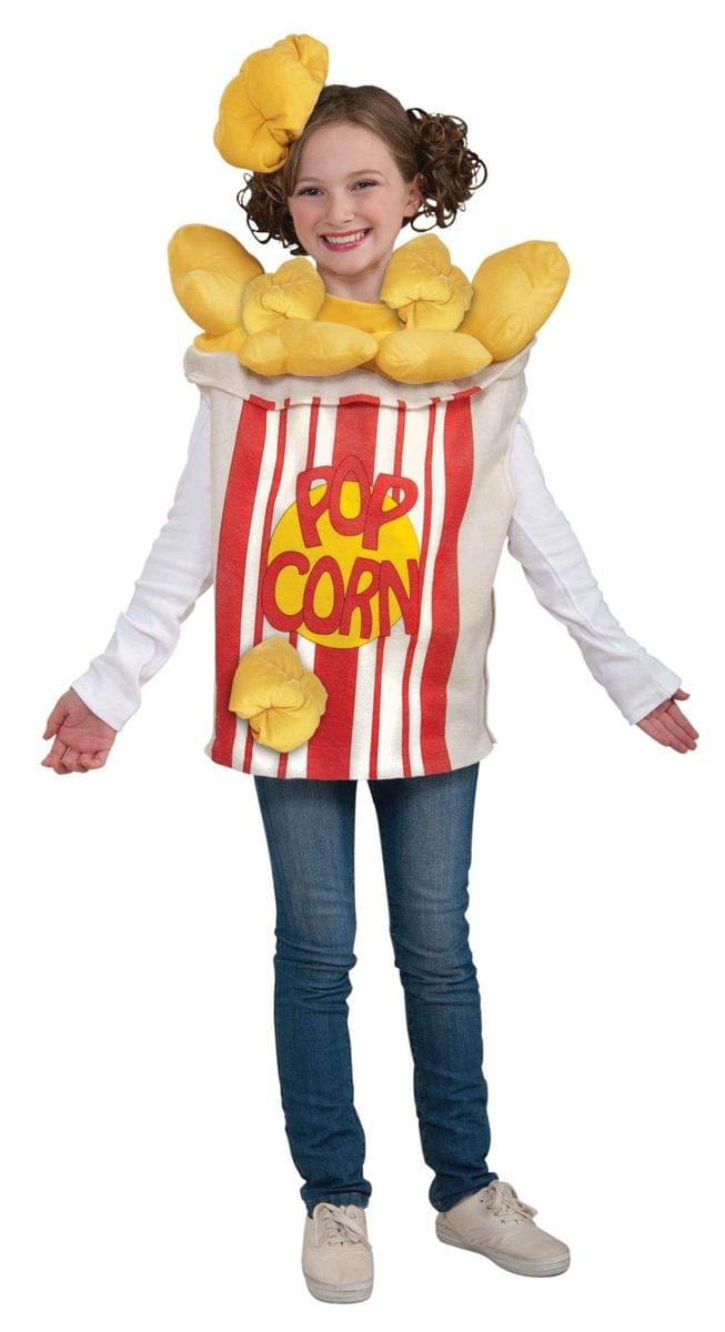 Popcorn Kernel Food Costume w/Hat Child