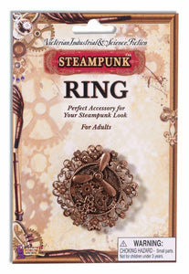 Steampunk Copper Propeller & Gears Costume Ring