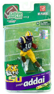 LSU McFarlane College Football Figure: Joseph Addai (Purple Jersey Variant)