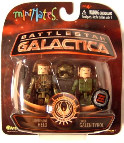 Battlestar Galactica Minimates Lt. Helo And Chief Galen Tyrol Action Figures