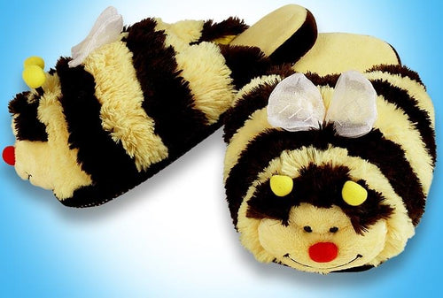 My Pillow Pets Bumblebee Slippers Large