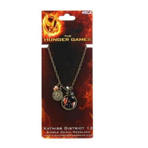"The Hunger Games Movie Necklace Single Chain ""Katniss Distri"