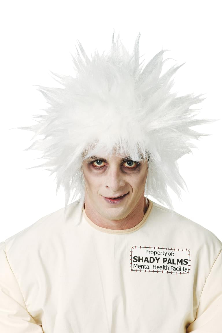 Shock Treatment Mad Scientist White Costume Wig