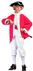 Colonial Captain Soldier Red Costume Child