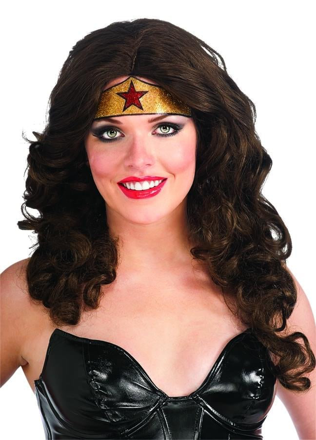 Wonder Woman Crown Glitter Sticker Tattoo Costume Accessory