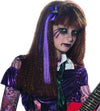 Purple Hair Extension & Skeleton Hand Bow Costume Accessory