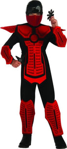 Red Ninja Molded Armor Jumpsuit Costume Child