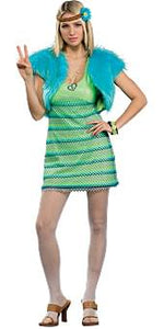 60's Girl Lime Costume Adult