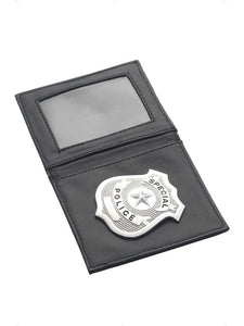 Black & Silver Police Badge In Wallet Costume Set