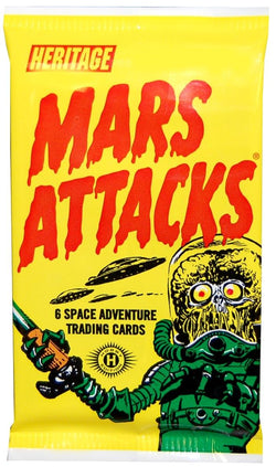 Mars Attacks! Space Adventure Cards 1 Pack Of Cards