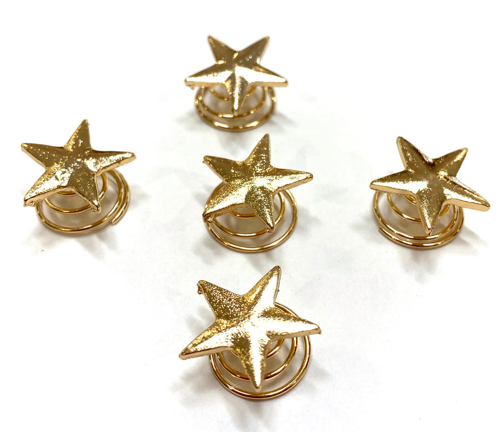 STAR SPRING HAIR CLIPS