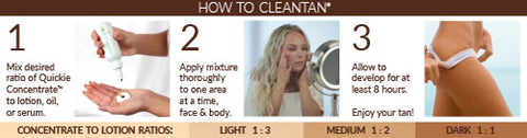 cleantan tanning concentrate mixing ratios
