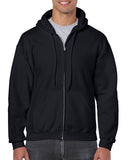 WANAQUE Black Heavy Blend FULL-ZIP Hoodie w/ Large WANAQUE School