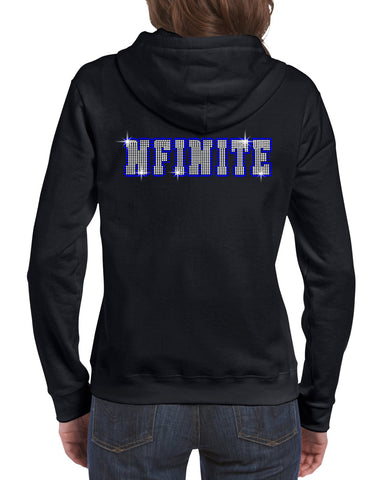 NFINITE Dark Heather T-Shirt w/ NFINITE Summit D2 Logo on Front.