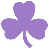 3 LEAF CLOVER SHAMROCK Single Color Transfer Type Decal