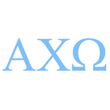 ALPHA CHI OMEGA Greek Lettering Single Color Transfer Type Decal