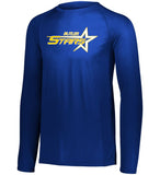 Butler Stars Royal Attain Wicking Long Sleeve Tee w/ Large Front 2 Color Design