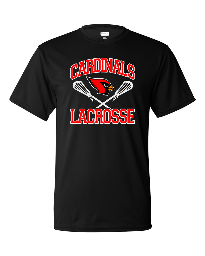 Westwood Cardinals Black Augusta Sportswear - Performance T-Shirt - 790 w/ 2 color Cardinals Crossed Sticks Design on Front.