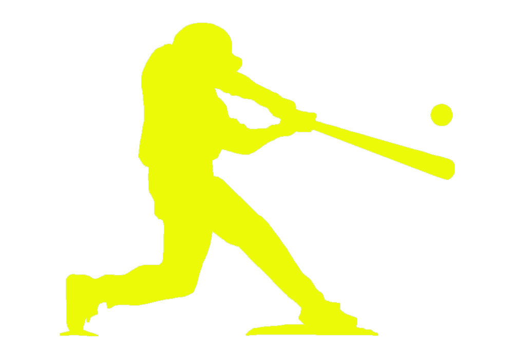 Baseball Player at Bat V1 Single Color Transfer Type Decal