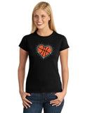 Basketball Heart Splatter V1 Mixed Media Design Shirt