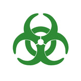 Bio Hazard Symbol V1 Single Color Transfer Type Decal
