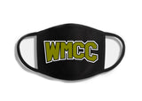 WMCC Black Double Layer Cotton Face Cover w/ WMCC Logo on Front.