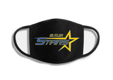 Butler Stars Black Double Layer Cotton Face Cover w/ 2 Color Logo on Front.