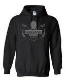 Lakeland Fencing Black Heavy Blend Hoodie w/ Gray Design