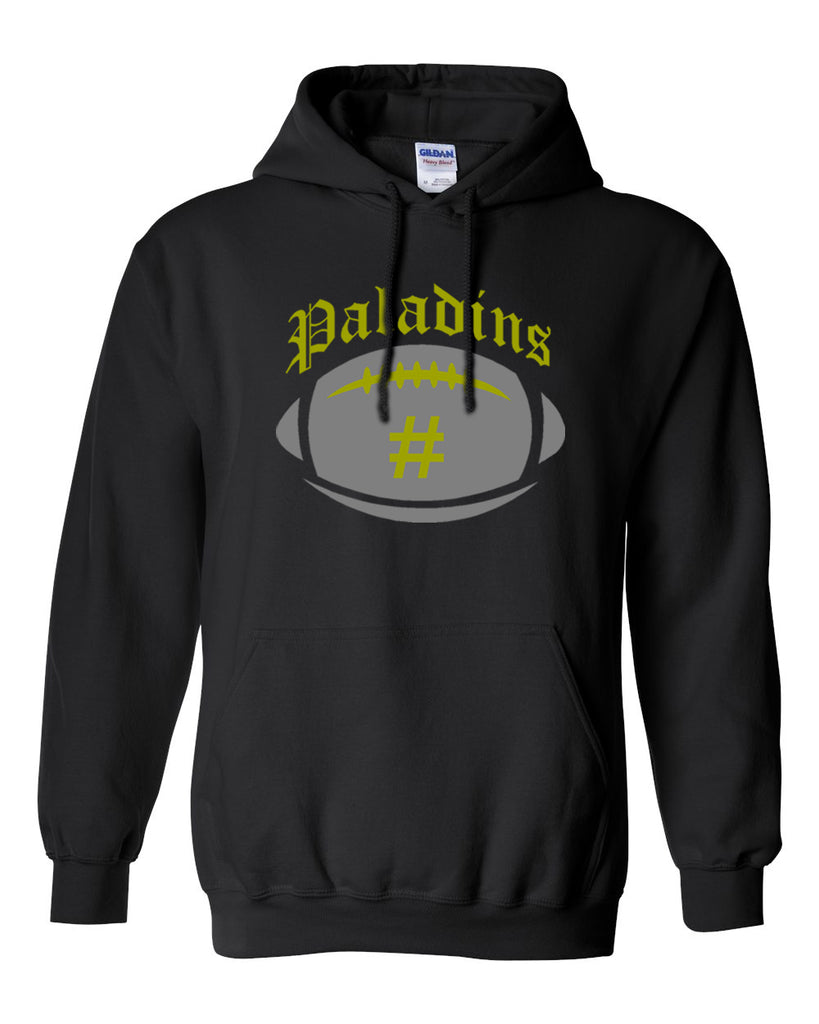 Paramus Catholic Black Hooded Swetashirt w/ Large Front 2 Color Design