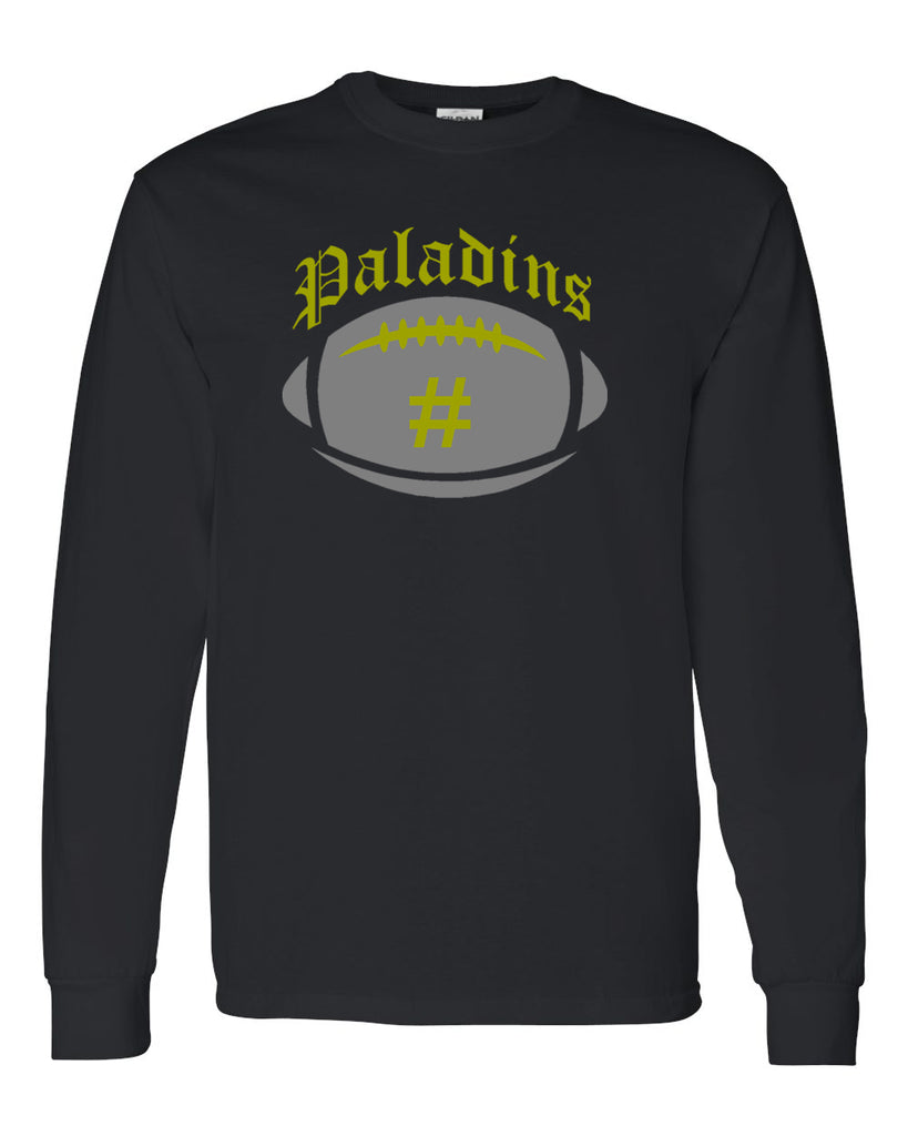 Paramus Catholic Black Long Sleeve Tee w/ Large Front 2 Color Design