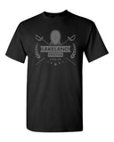Lakeland Fencing Black 100% Cotton Tee w/ Gray Design