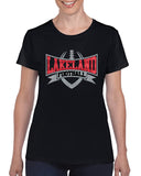 Lakeland Lancers Football Ladies Tee w/ Large Front Logo Graphic Design Shirt