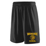 WANAQUE Black Training Shorts w/ WANAQUE School