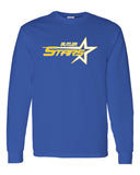 Butler Stars Royal Blue 100% Cotton Long Sleeve Tee w/ Large Front Design