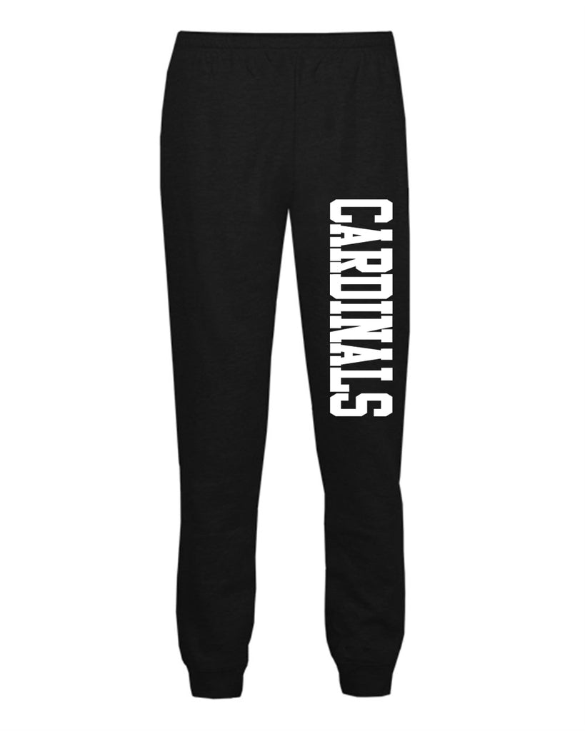 Westwood Cardinals Badger - Athletic Fleece Joggers - 2215 w/ Cardinals Design Down Left Leg.