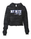 NFINITE ITC Camo Cropped Hooded Sweatshirt w/ NFINITE All Stars 2 Color Logo on Front.