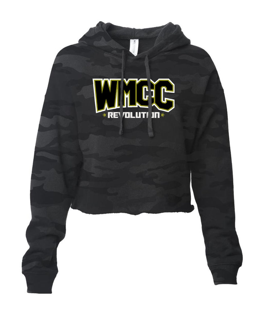 WMCC Comp. CHEER - ITC Women's Lightweight Cropped Hooded Sweatshirt with Logo Design on Front.
