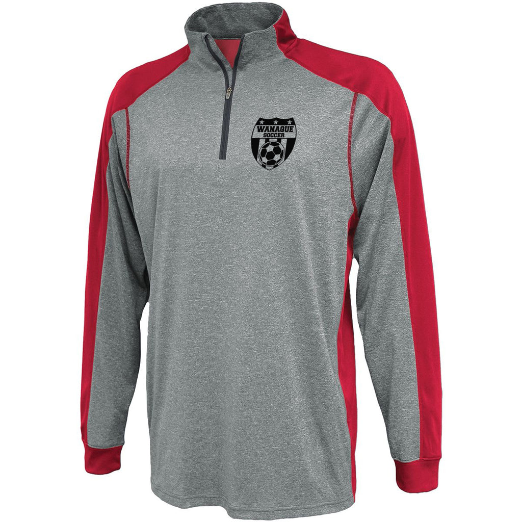 Wanaque Soccer Carbon Warmup Shirt w/ Small Wanaque Soccer Logo on Left Chest
