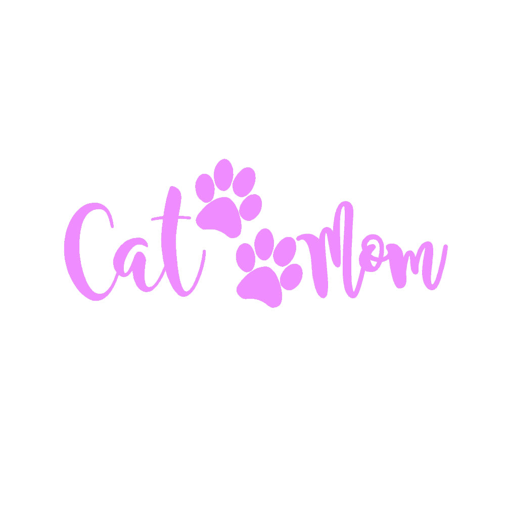 Cat Mom V3 Single Color Transfer Type Decal
