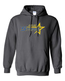 Butler Stars Charcoal Hoodie w/ Large Design on Front.
