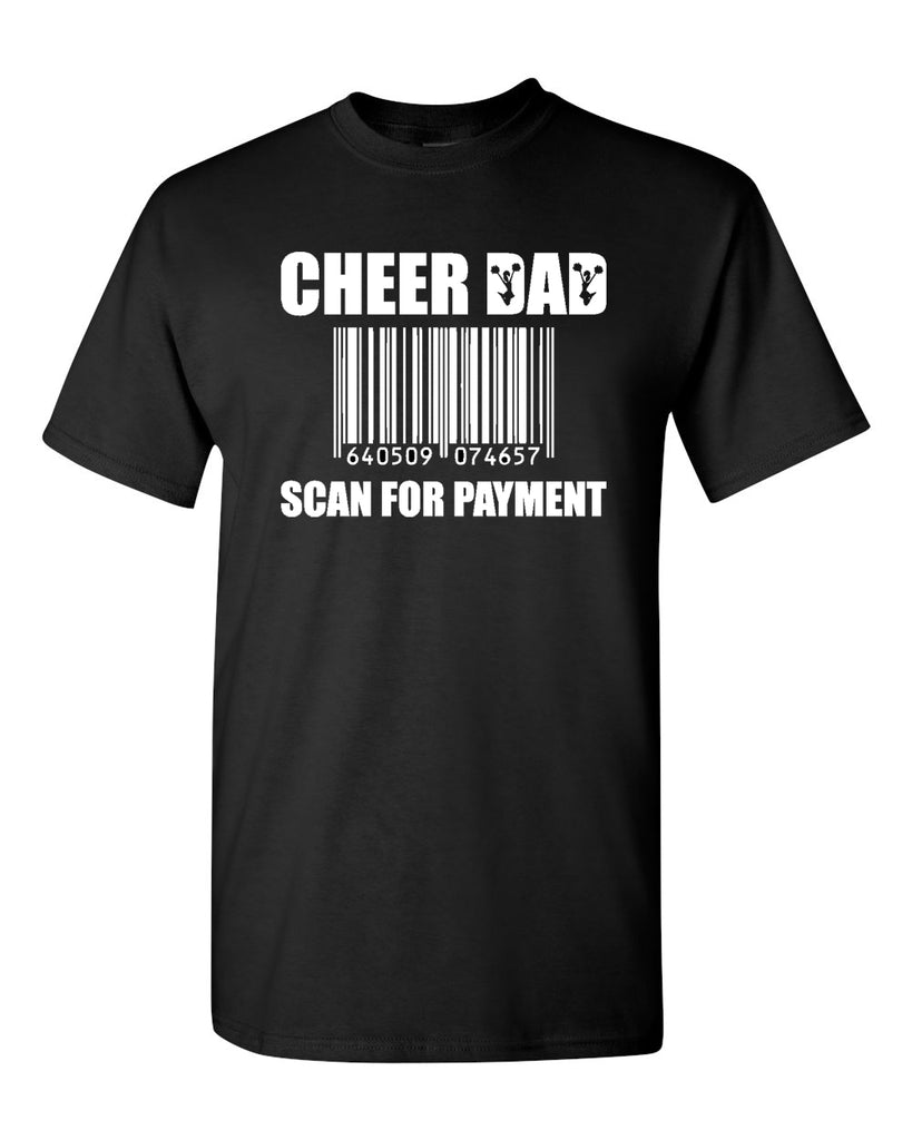 WANAQUE Cheer Heavy Cotton Tee w/ CHEER DAD SCAN Design