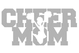 CHEER MOM w/ Jumper V1 Single Color Transfer Type Decal