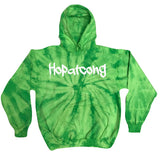 Hopatcong Colortone® Youth Tie Dye Fleece Pullover w/ HOPATCONG Cool Drip Design on Front.