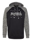 MADS Cosmic Fleece Hooded Pullover Sweatshirt w/ 2 color MADS Stars Design on Front.